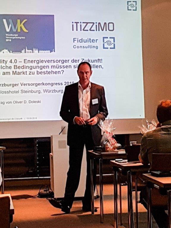 Keynote Utility 4.0 beim Würzburger Versorgerkongress 2018 von Oliver D. Doleski