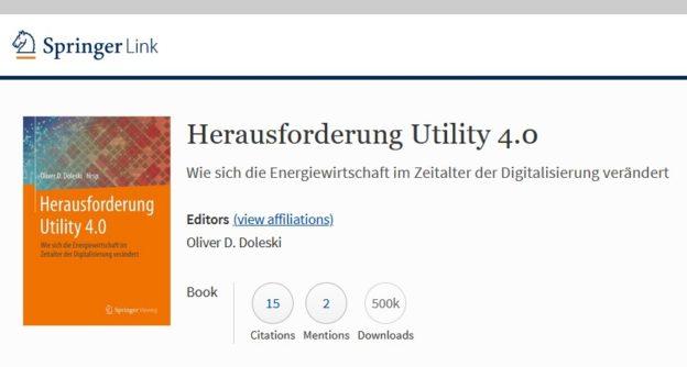 Herausforderung Utility 4.0 von Oliver D. Doleski (Hrsg.) – 500.000 Downloads